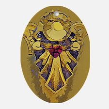 Angel GOLDEN Heart Oval Ornament