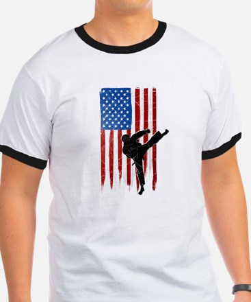 USA Flag Team Taekwondo T-Shirt