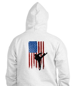 USA Flag Team Taekwondo Jumper Hoody