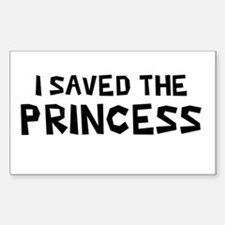 I Saved The Princess Rectangle Decal