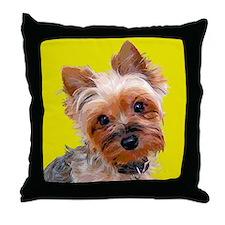 Pop Art Yorkie Throw Pillow