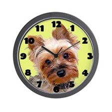Pop Art Yorkie Wall Clock