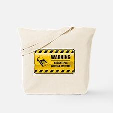 Warning Bookkeeper Tote Bag