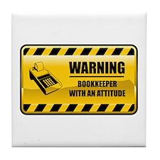 Warning Bookkeeper Tile Coaster