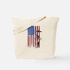 USA Flag Team Triathlon Tote Bag
