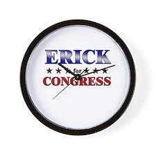 ERICK for congress Wall Clock