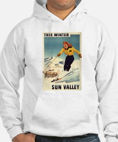 Woman Skiing at Sun Valley - Vintage Travel Poster