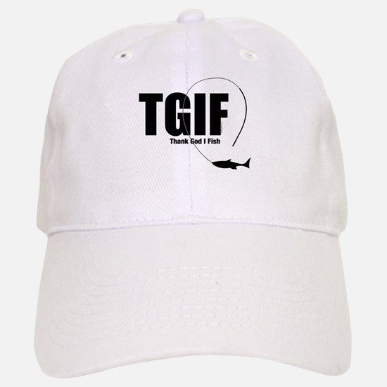 TGIF Fishing Baseball Baseball Cap