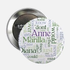 "Anne of Green Gables Word Cloud 2.25"" Button (10 p"