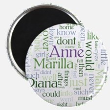Anne of Green Gables Word Cloud Magnets