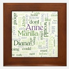Anne of Green Gables Word Cloud Framed Tile
