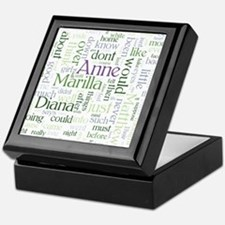 Anne of Green Gables Word Cloud Keepsake Box