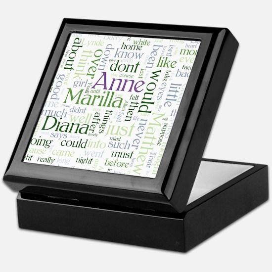 Anne of Green Gables Word Cloud Keepsake Box