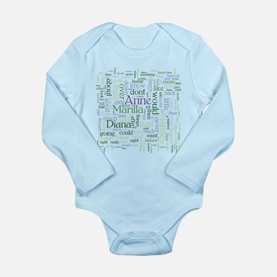 Anne of Green Gables Word Cloud Body Suit
