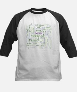 Anne of Green Gables Word Cloud Baseball Jersey
