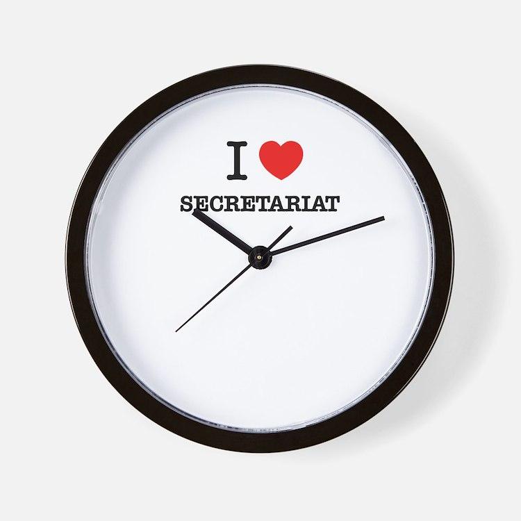 I Love SECRETARIAT Wall Clock