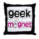 Geek Magnet Throw Pillow