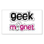 Geek Magnet Rectangle Sticker