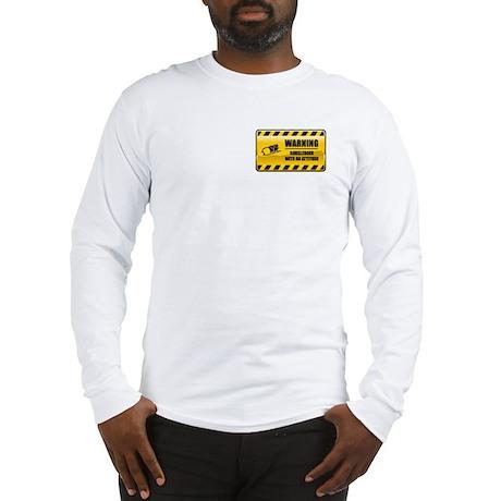 Warning Bobsledder Long Sleeve T-Shirt
