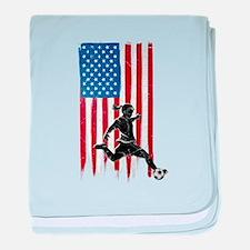 USA Flag Team Soccer Infant Blanket