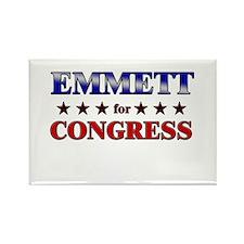 EMMETT for congress Rectangle Magnet