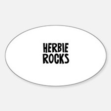 Herbie Rocks Oval Decal
