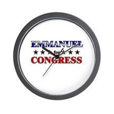 EMMANUEL for congress Wall Clock