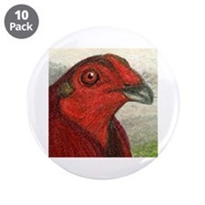 """Red Gamecock 3.5"""" Button (10 pack)"""