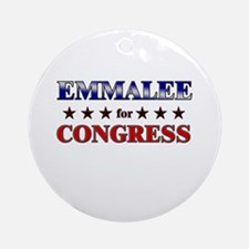 EMMALEE for congress Ornament (Round)