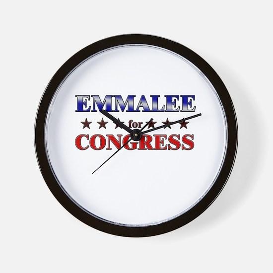 EMMALEE for congress Wall Clock