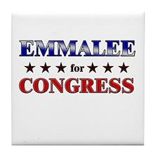 EMMALEE for congress Tile Coaster