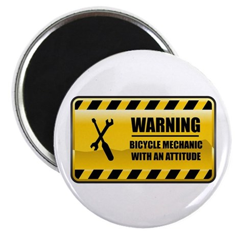 "Warning Bicycle Mechanic 2.25"" Magnet (100 pa"