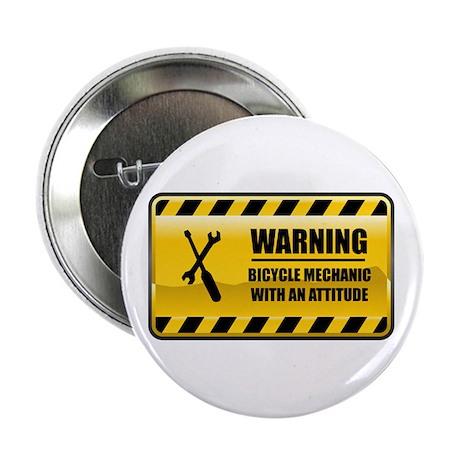 "Warning Bicycle Mechanic 2.25"" Button"
