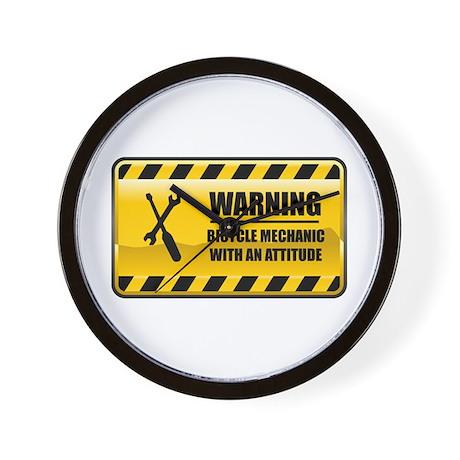 Warning Bicycle Mechanic Wall Clock