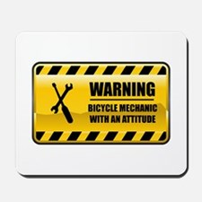 Warning Bicycle Mechanic Mousepad