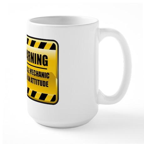 Warning Bicycle Mechanic Large Mug