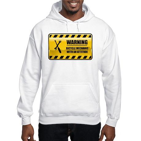 Warning Bicycle Mechanic Hooded Sweatshirt