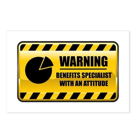 Warning Benefits Specialist Postcards (Package of