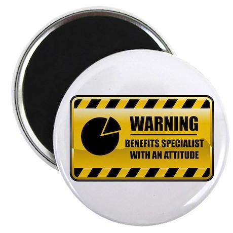 "Warning Benefits Specialist 2.25"" Magnet (10"