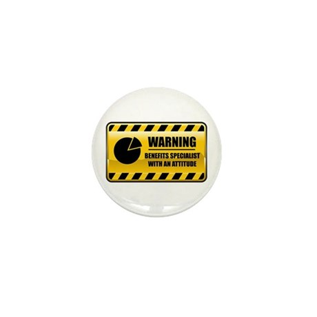 Warning Benefits Specialist Mini Button (100 pack)