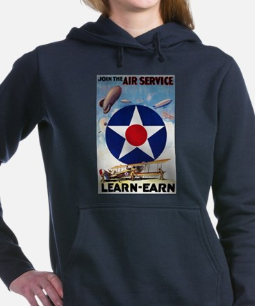 Join the Air Service Learn-Earn WWI Women's Hooded