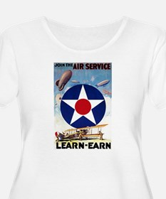 Join the Air Service Learn-Earn WWI Plus Size T-Sh