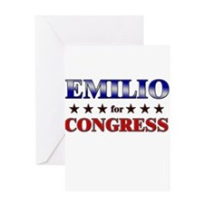 EMILIO for congress Greeting Card