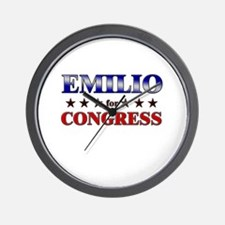 EMILIO for congress Wall Clock