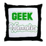geek Wannabe Throw Pillow