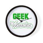 geek Wannabe Wall Clock