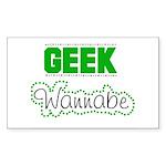 geek Wannabe Rectangle Sticker
