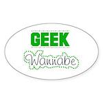 geek Wannabe Oval Sticker