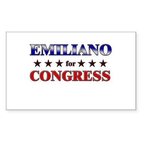 EMILIANO for congress Rectangle Sticker