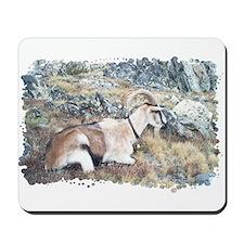 Brown pack-goat, Wyoming Mousepad